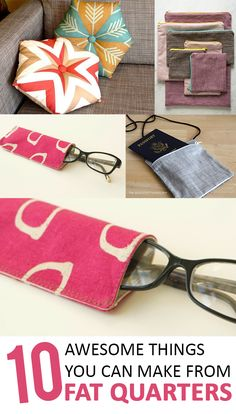 10 Awesome Things You Can Make From Fat Quarters