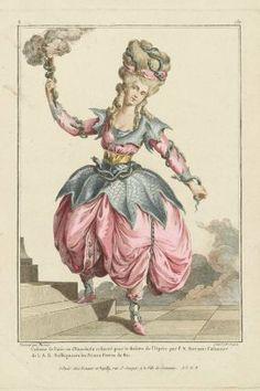 Gallerie des Modes et Costumes Français. 22e Cahier des Costumes Français, 16e Suite d'Habillemens à la mode en 1779.  X.130