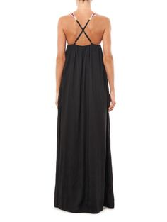 Mara Hoffman Cosmic Fountain Embroidered Maxi Dress in Black