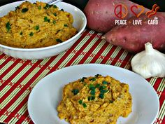 Roasted Cauliflower and Sweet Potato Puree - Low Carb, Gluten Free | Peace, Love, and Low Carb