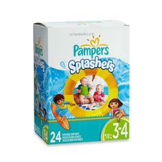 Pampers® Splashers 24-Count Size 3-4 Disposable Swim Pants - BedBathandBeyond.com