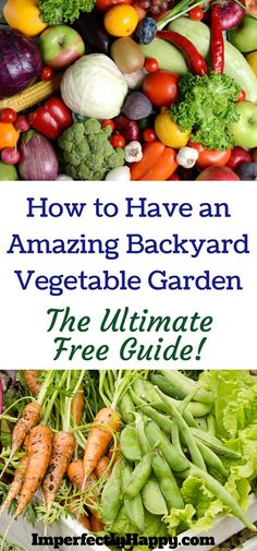 How to have an amazing backyard vegetable garden (no matter your space). The ultimate FREE guide with tips, tricks and help to the newbie to veteran gardener, backyard farmer or urban homesteader!