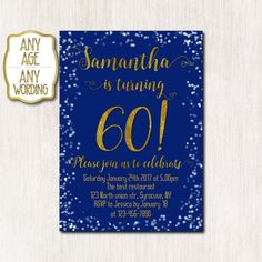 60th birthday invitations Spring birthday invitation by CoolStudio