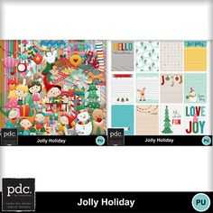 Super cute and colorful holiday kit!