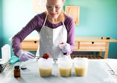 Learn how to add natural purees such as pumpkin, tomato and more into your cold process soap recipes. This post is full of tips and tricks.