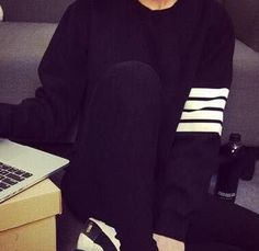 Autumn Winter 2016 Hoodies for Women Harajuku Fashion Hoody Tracksuit Striped Hoodie Casual Svitshot Blue Black Gray Sweatshirts