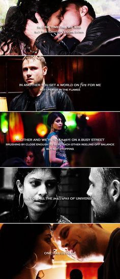 Kala + Wolfgang: Maybe we'll come across each other at the turning of the century, racing across the breaches between worlds. #sense8