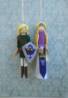 The Legend of Zelda Clothespin Doll Ornaments by LittleParade, $24.00