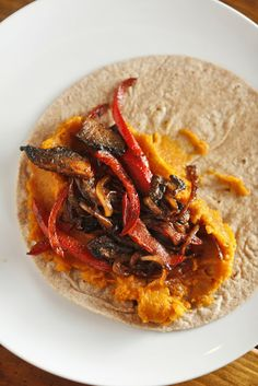 The Chubby Vegetarian: Sweet Potato Quesadillas