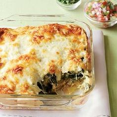 Easy Cheesy Chile Relleno Casserole trying this for a pot luck.  Hope it's good!
