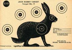 Vintage Shooting Target / Rabbit.