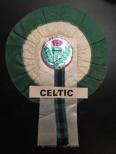 Glasgow Celtic Vintage Football Rosette Rare