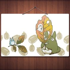 Woodland Totoro Family - Anime Cross Stitch Pattern PDF File by Stitchykins on Etsy