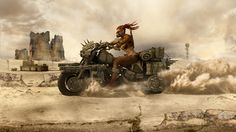 Apocalypse – Ranger Woman Warrior on Armoured Bike