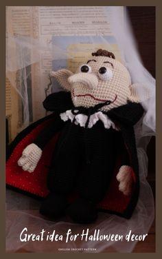 Crochet Amigurumi, Crochet Toys, Dracula, Doll Toys, Dolls, Cute Crochet, Crochet Patterns, Halloween, Hats