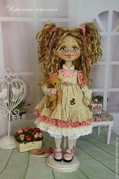 Коллекционные куклы ручной работы. Ярмарка Мастеров - ручная работа. Купить Фросенька . Кукла авторская текстильная . Кукла ручной работы .. Handmade.