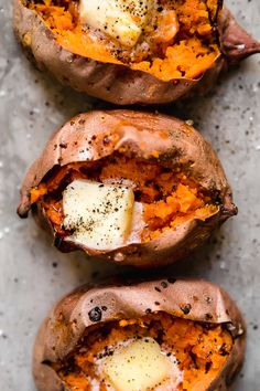 Making a Baked Sweet Potato in the oven is so easy and comes out perfectly sweet and fluffy on the inside with this foolproof recipe.