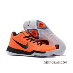 9406c29b4aea New Nike Kyrie 3 Orange Black White Basketball Shoes Super Deals