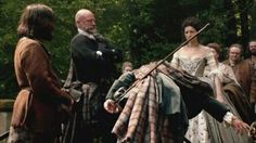Jamie bowing before his bride #Outlander #1x07 The Wedding