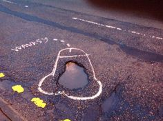 His Methods May Be Obscene, But This Artist Is Getting Something Done In His City -   You complain about that one pothole on your commute every day, but do you ever do anything about it? Most likely not. Sounds like a lot of paperwork, right?One British artist has found a more efficient way of getting the holes filled in Greater Manchester: drawing phallic images around...