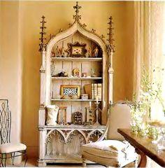 Gothic altarpiece meets bookcase.