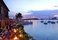 Key Biscayne: here is the Rusty Pelican's view, where last month the Prince of Spain had lunch