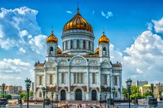 Russia. Moscow. Cathedral of Christ the Saviour - The Cathedral of Christ the Saviour (Russian: Храм Христа Спасителя, Khram Khrista Spasitelya) is a cathedral in Moscow, Russia, on the northern bank of the Moskva River, a few blocks southwest of the Kremlin. With an overall height of 103 metres (338 ft), it is the tallest Orthodox Christian church in the world. The current church is the second to stand on this site. The original church, built during the 19th century, took more than 40…