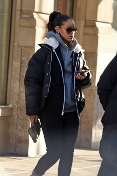 Rihanna out and about in NYC.