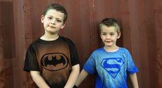 superhero bleached t shirts craft - Google Search