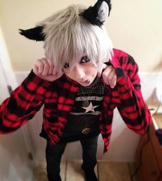 Designer Clothes, Shoes & Bags for Women Cute Emo Guys, Emo Love, Scene Kids, Emo Scene, Yandere, Emo People, Goth Boy, Estilo Anime, Pin Up