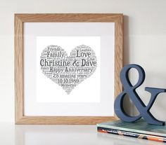 Items similar to Personalised FAMILY Word Art Print - Framed Print - Printable Gift - Family Sign - Digital File - Unique Gift - Family Gift - Family Art on Etsy 10 Year Anniversary Gift, 40th Wedding Anniversary, Unique Anniversary Gifts, Silver Anniversary, Anniversary Ideas, Parents Anniversary, Word Art, Printable Art, 50th
