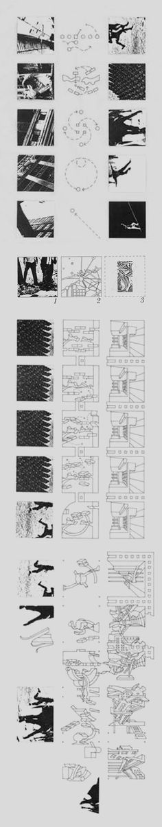 Another way to communicate an experience of place - a storyboard! Bernard Tschumi's Manhattan Transcripts #experimentsinmotion #motion
