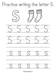 Practice Writing The Letter S Coloring Page