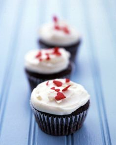 Frosted Chocolate-Buttermilk Cupcakes Recipe