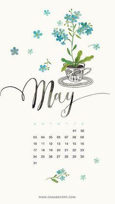 "simply-divine-creation: ""may 2015 Cute Calendar, Calendar Ideas, Month Flowers, Calendar Wallpaper, Multi Photo, Wallpaper For Your Phone, Calendar Design, Months In A Year, Surface Pattern Design"