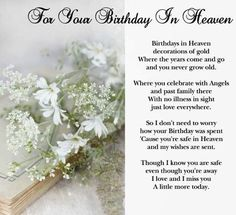 Happy Heavenly Birthday, Birthday Wish For Husband, Birthday Wishes For Sister, Happy Birthday Friend, Grandmother Birthday, Father Birthday, Birthday In Heaven Quotes, Happy Birthday Quotes, Happy Quotes