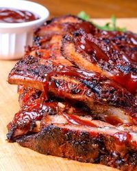 Here are some of our family's favorite Super Bowl BBQ Recipes (both the sweet and the savory). People will come just for the food with these recipes! Grilling Recipes, Pork Recipes, Cooking Recipes, Healthy Recipes, Mexican Food Recipes, Delicious Recipes, Costillitas Bbq, Pork Ribs, Bbq Ribs