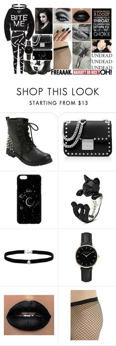 """""""Sad Goth"""" by xxunicorn-loverxx on Polyvore featuring MICHAEL Michael Kors, Amanda Rose Collection, ROSEFIELD, Converse and Sixtrees"""