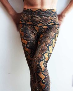 Snakeskin hot leggings for women. Wear them to go out, wear them to work, at Sweat-n-Stretch we wear them to hot yoga! Mens Yoga Shorts, Yoga Pants, Hot Yoga Wear, Cool Jackets, Yoga For Men, Yoga Tops, Women's Leggings, Cool T Shirts, Pants For Women