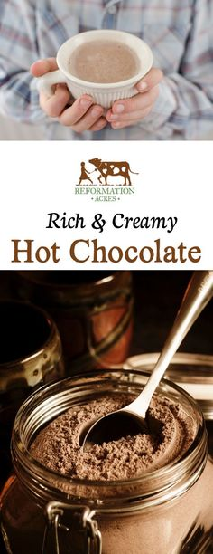 Once you've tried this homemade stovetop hot chocolate you'll never go back to those nasty, expensive powdered packets again!