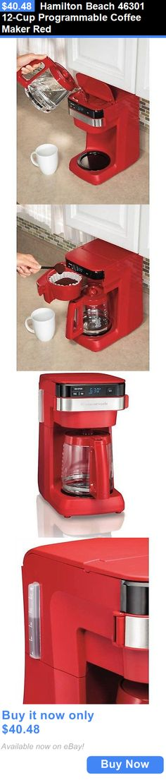 Small Kitchen Appliances: Hamilton Beach 46301 12-Cup Programmable Coffee Maker Red BUY IT NOW ONLY: $40.48