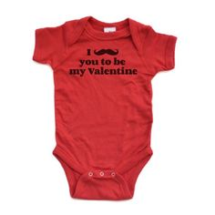 Amazon.com: I Mustache You to be My Valentine - Valentine's - White or Red Short Sleeve Baby Bodysuit: Clothing