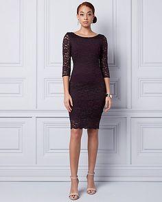 LE CHÂTEAU: Lace Boat Neck Dress
