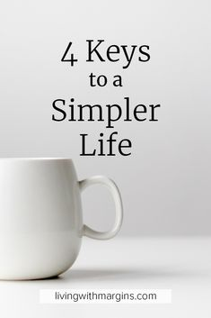 Making changes to simplify in these 4 key areas have helped me create a simpler, and easier, life that I love.