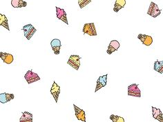 A desktop wallpaper for anyone with a sweet tooth.