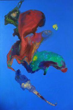 Peinture abstraite à l'acrylique pouring