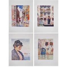 Antique Venice Prints by M. Menpes- Set of 4 ($125) ❤ liked on Polyvore featuring home, home decor, wall art, prints, british home decor, english home decor, gold leaf wall art and london wall art