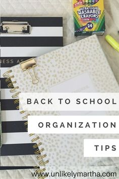 Easy tips for parents to get organized for back to school