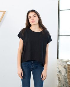 Alta Top in Black or Beige Linen – Only Child
