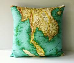 Map pillow.